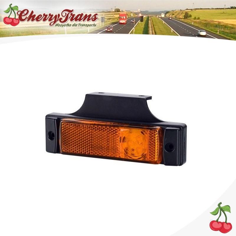 Lampa obrysowa  z odblaskiem pomarańczowa LED - boczna