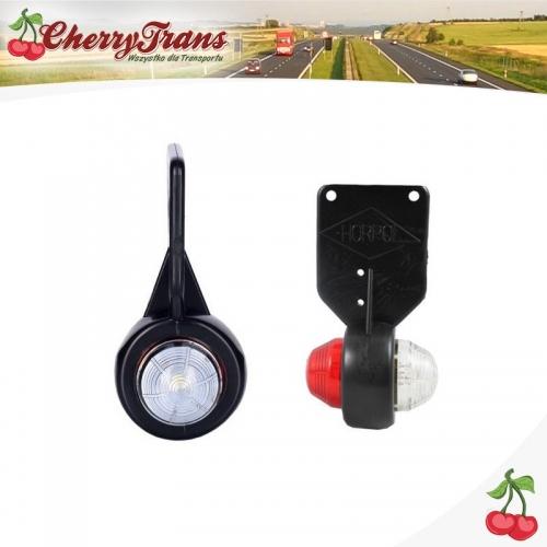Lampa obrysowa tylna LED - biało czerwona - BUS - LEWA
