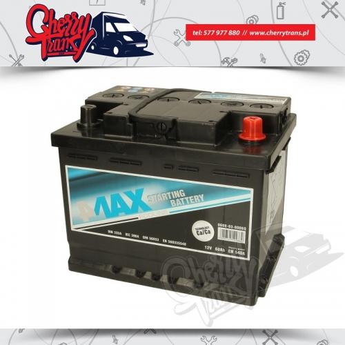 Akumulator 60Ah 540A 4MAX Prawy plus
