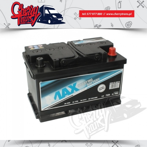 Akumulator 75Ah 700A 4MAX Prawy plus
