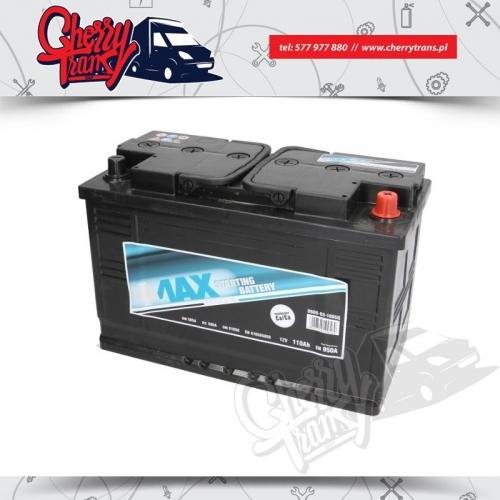 Akumulator 110Ah 850A 4MAX Prawy plus