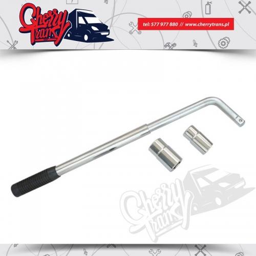 """Rozsuwany klucz nasadowy do kół 1/2"""", nasadki: 17x19mm, 21x23mm"""