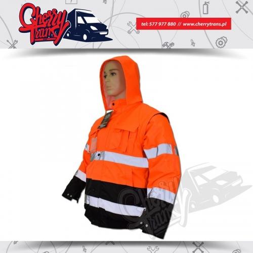 Ocieplana kurtka odblaskowa - Certyfikowana odzież ostrzegawcza - XXXL