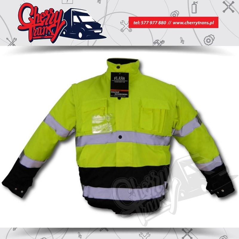 Ocieplana kurtka odblaskowa  Certyfikowana odzież ostrzegawcza Ver. 2