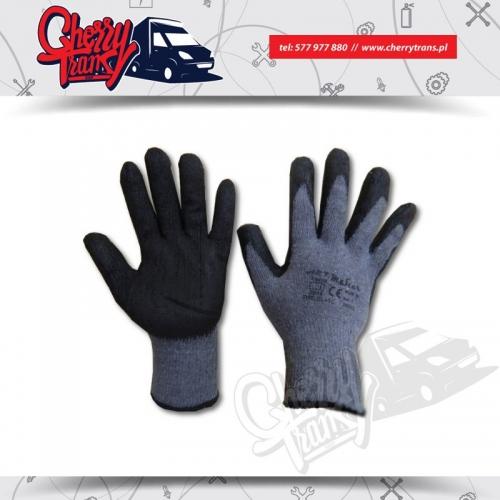 Rękawice robocze, dziane z bawełny 100% powlekekane latexem