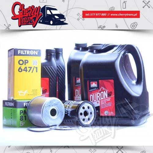 ZESTAW 3512 Olej Petro-Canada 15w40 + Filtr Oleju Filtron OP647/1 + Filtry paliwa Filtron PM819/1