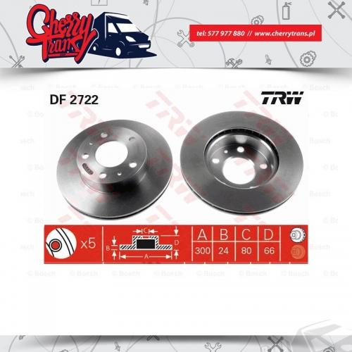 Tarcza hamulcowa Przód Ducato 2006+TRW DF2722 300/24